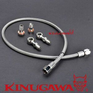 Turbo Oil Feed Line For Subaru Wrx Ej20 Ej25 Garrett Gt25 Gt28 Gt30 Ball Bearing