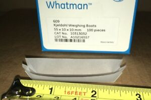 Whatman Weigh Boats Paper Grade 609 55 X10 X10mm 100 pak Kjeldahl Extraction