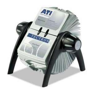 Durable Visifix Rotary Business Card File Holds 400 4 1 8 X 2 7 616528230043