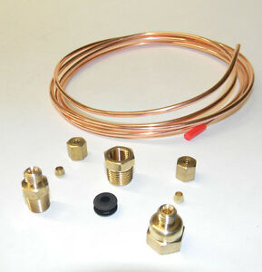 Mechanical Oil Pressure Gauge Install Kit With Fittings 12 Ft Copper Line New