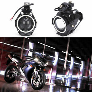 1x U7 Led 125w Motorcycle Drl Headlight Driving Fog Light Spot Lamp Universal