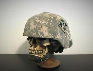 GENUINE US MILITARY MICH ACH TC 2000 COMBAT HELMET - 4th INFANTRY DIV. US ARMY