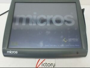 Used Micros Workstation 5 System Unit 400814 001 touch Screen w windows v 09