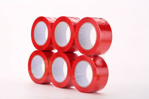 10 Rolls 2 x110 Yd 330 Ft Red Carton Packing Package Tape 2 mil