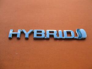 04 05 06 Toyota Prius Hybrid Right Fender Chrome Emblem Logo Badge Sign Oem 6