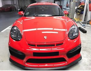 Porsche Cayman Front Bumper 981 Gt4 Style 987 Boxster 2nd Gen 2009 To 2012