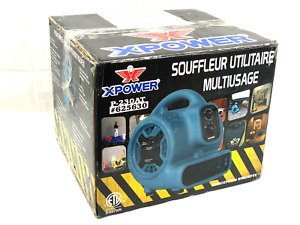Xpower P 230at 1 5 Hp 800 Cfm 3 Speeds Mini Air Mover W Built in Power Outlet