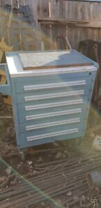 Stanley Vidmar 6 Drawer Modular Cabinet On Casters