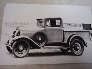 1930 1931 Ford Model A Pick Up Steel Cab 2 11 X 17 Photo Picture