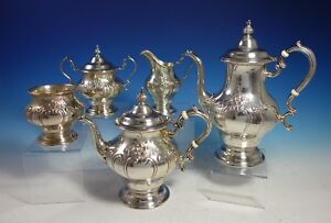 Chantilly Countess By Gorham Sterling Silver Coffee Tea Set 5pc 2967