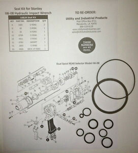 Seal Kit Stanley Iw 08 Hydraulic Impact Wrench Seal Kit No 10829 pack Of 10