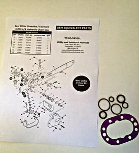 Seal Kit Greenlee H6200 Hydraulic Chain Saw Part 40789 pack Of 10