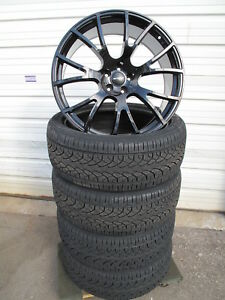 22 New Dodge Charger Srt Hellcat Gloss Black Set Of 4 Wheels Rims With Tires