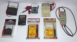 Lot Of 8 Multimeter Multitester Sperry Micronta Gb Instruments