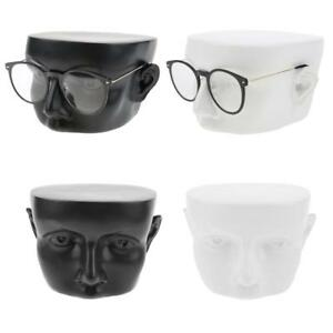 2x Black White Eyeglass Sunglasses Mannequin Head Display Stand Rack Holder