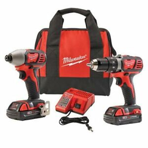 Milwaukee 2691 22 18 volt Compact Drill And Impact Driver Combo Kit