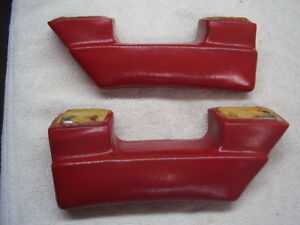 1963 Studebaker Arm Rest Red Pair Lark Daytona Cruiser 1964 And 1965 Too