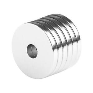 1 X 1 4 X 1 8 Inch Large Neodymium Rare Earth Ring Magnets N48 6 Pack