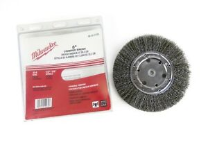 Milwaukee 8 Crimped Wire Wheel Brush 1 2 3 4 Spindle 014 Wire Usa Made