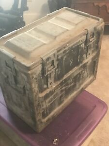Vintage Navy Small arms Metal Ammo CanBox MK1 LOCAL PICKUP ONLY AUSTIN TX.