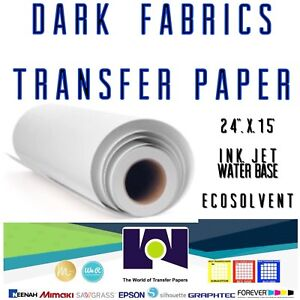 Dark Fabrics Ink jet Heat Transfer Paper Roll 24 x50