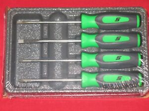 Snap On 4 Piece Instinct Mini Screwdriver Set In Extreme Green Brand New