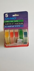 Dymo Embossing Label Tape 99786 Rainbow Pack 5 Colors Lot Of 3 Packages