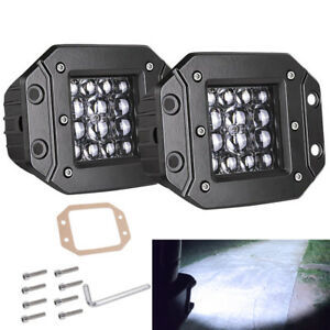 Flush Mount 5inch 140w Dual Led Lights Bar Spot Driving Backup Fog Lamp 12v Jeep