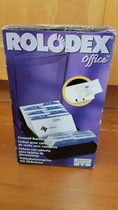 Rolodex Office 67208 New Made In Usa Covered Business Card File W 100 Sleeves