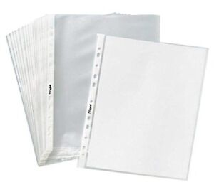 Tyh Supplies Box Of 1000 Economy 11 Hole Non Glare Matte Top Loading Poly Office