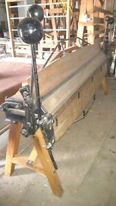 1893 Double Cornice Truss Sheet Metal Brake From Buffalo Ny Metal Fabrication