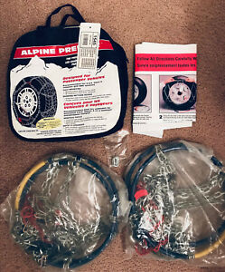 Les Schwab Laclede Alpine Premier 1545 Diamond Snow Tire Chains Never Used