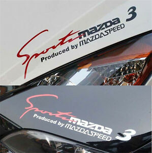 Reflective Headlight Sticker Sports Mind Decal Car Stickers For Mazda 3 Exterior