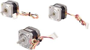 Lot 3x Shinano Kenshi Sst42d2120 3 7v 1 2a 4 wire 1 8 Deg step Dc Stepping Motor