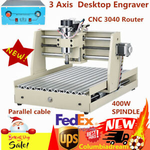 3axis Cnc 3040 Router 400w Spindle Engraver 3d Engraving Milling Machine Desktop