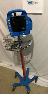 Ge Dinamap Procare Vital Signs Monitor On Rolling Stand used