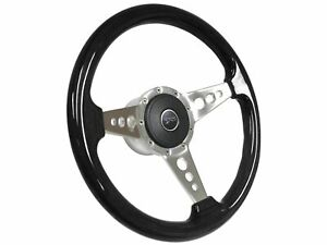 1968 1978 Mercury Cougar S9 Black Ash Steering Wheel Kit 3 Spoke holes