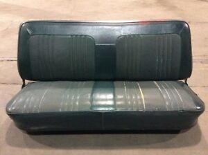 1973 1979 Ford F Series Truck Factory Front Green Bench Seat Complete