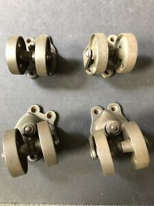 Vintage Cast Iron Caster Wheels