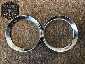 Headlight Trim Ring Bezels 1956 Ford F100 Stainless Steel