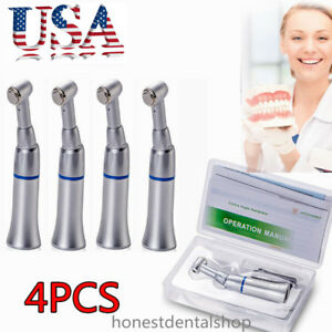 4pc Dental Low Speed Handpiece Contra Angle Push Button E type Motor Kavo Style