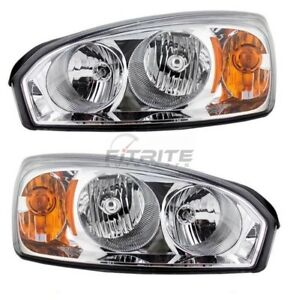 Left Right Side Head Lamp For 2004 2008 Chevrolet Malibu Gm2503235 Gm2502235