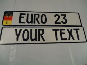 Euro German Style Embossed Aluminum Lic Plate German Decal Flag 9 Total Spaces