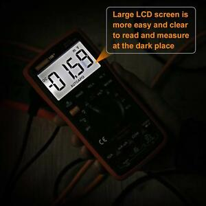 Auto Ranging Digital Multimeter Trms 6000 With Battery Alligator Clips Accurate