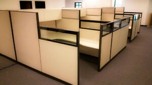 Herman Miller Cubicles Office Cubicles Systems Workstation Furniture glass Top