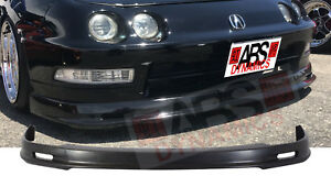 Mugen Style Front Lip For 1994 1997 Acura Integra Unpainted Polyproplyene Black