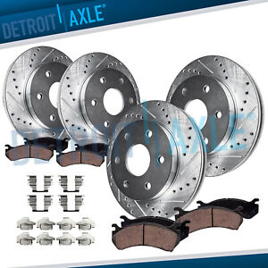 2006 2007 2008 2009 2010 Hummer H3 H3t F r Drilled Brakes Rotors Ceramic Pads