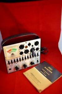 Vintage Tube Tester With Manual
