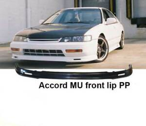 For 94 95 Honda Accord 2 4dr Mugen Style Front Lip Black Unpainted Polyproplyene