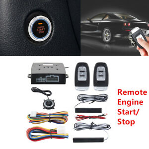 Pke Suv Alarm System Passive Keyless Entry Push Button Remote Engine Start Stop
